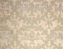 Animal Medallion ivory & gold on silk dupion