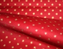 Classical Star gold on red cotton sateen
