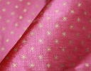 Classical Star gold on pink silk dupion