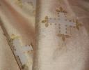 Icon ivory & gold on cream silk dupion