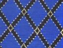 Icon Trellis charcoal & gold on blue silk dupion