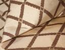Icon Trellis chocolate & gold on silk dupion