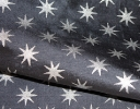 Medieval Star silver on grey silk dupion
