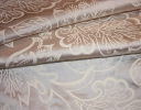 Jacobean ivory on cream silk dupion