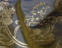 Little Animals gold on grey silk dupion
