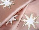 Movie Star ivory & gold on pink silk dupion