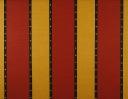 Neptune red & yellow on beige linen