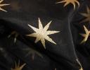 Opera Star gold on black silk organza