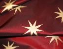 Opera Star gold on deep red silk dupion