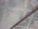 Pagodas ivory on cream silk dupion