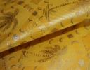 Palms yellow & gold on yellow chintz