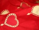 Valentine red & gold on red silk dupion
