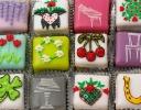 Tartan Heart cakes for Konditor & Cook