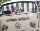 The Clark's Beegle Bus with Celia's fabric